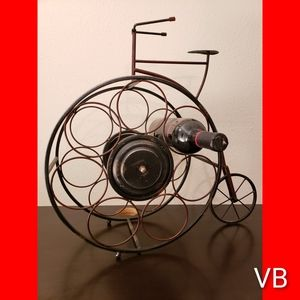 Metal Bicycle Wine Bottle Rack.